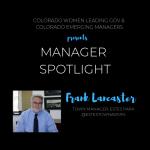 Manager Spotlight: Frank Lancaster